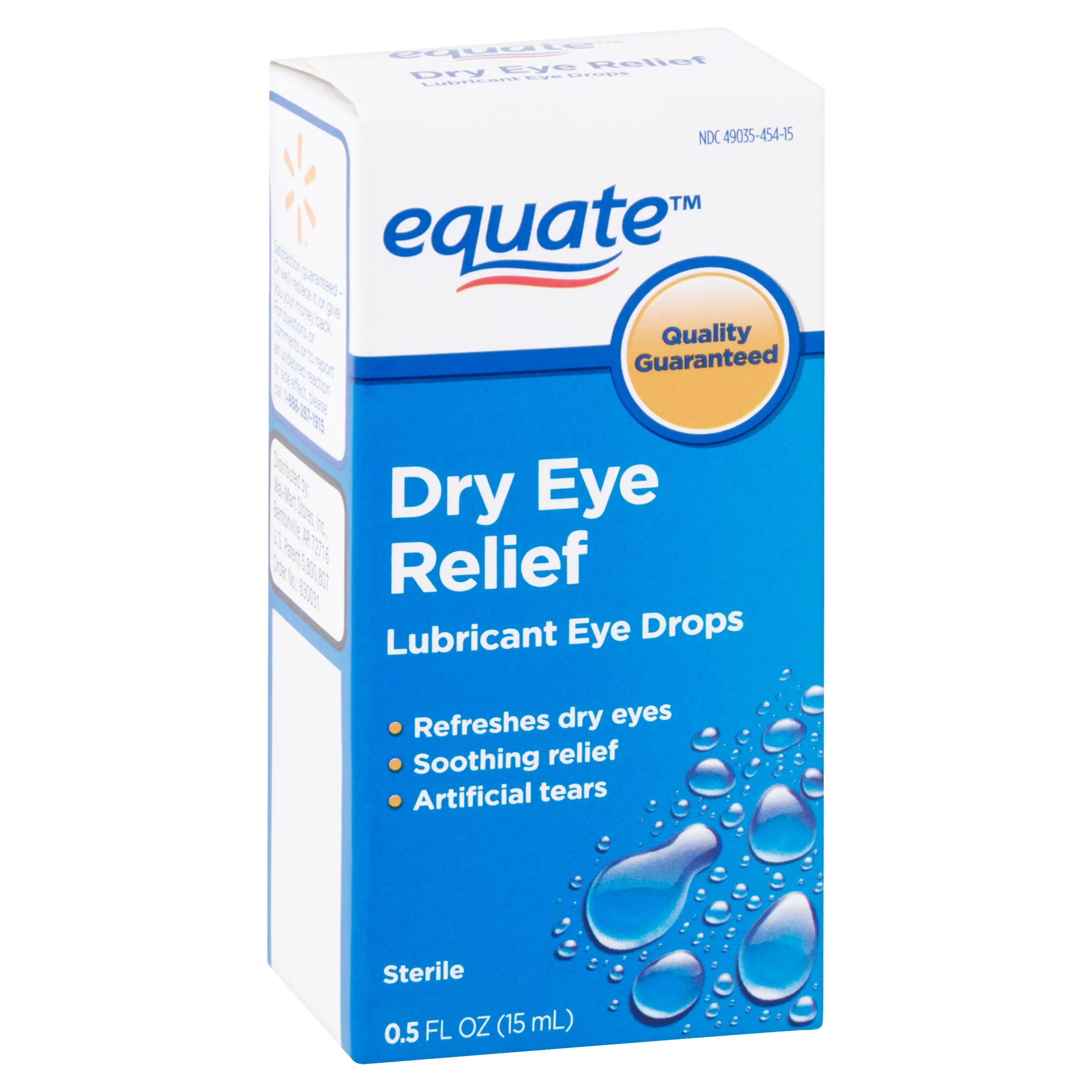 Equate Lubricant Eye Drops for Dry Eye Relief 0.5 fl oz ...