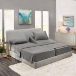 Split King Bed Sheets Set For Adjustable Beds Deep Pocket 5 Piece Bed Sheet Set 1800 Hotel Luxury Soft Double Brushed Microfiber Wrinkle Fade Stain Resistant Hypoallergenic Charcoal Gray Walmart Com Walmart Com