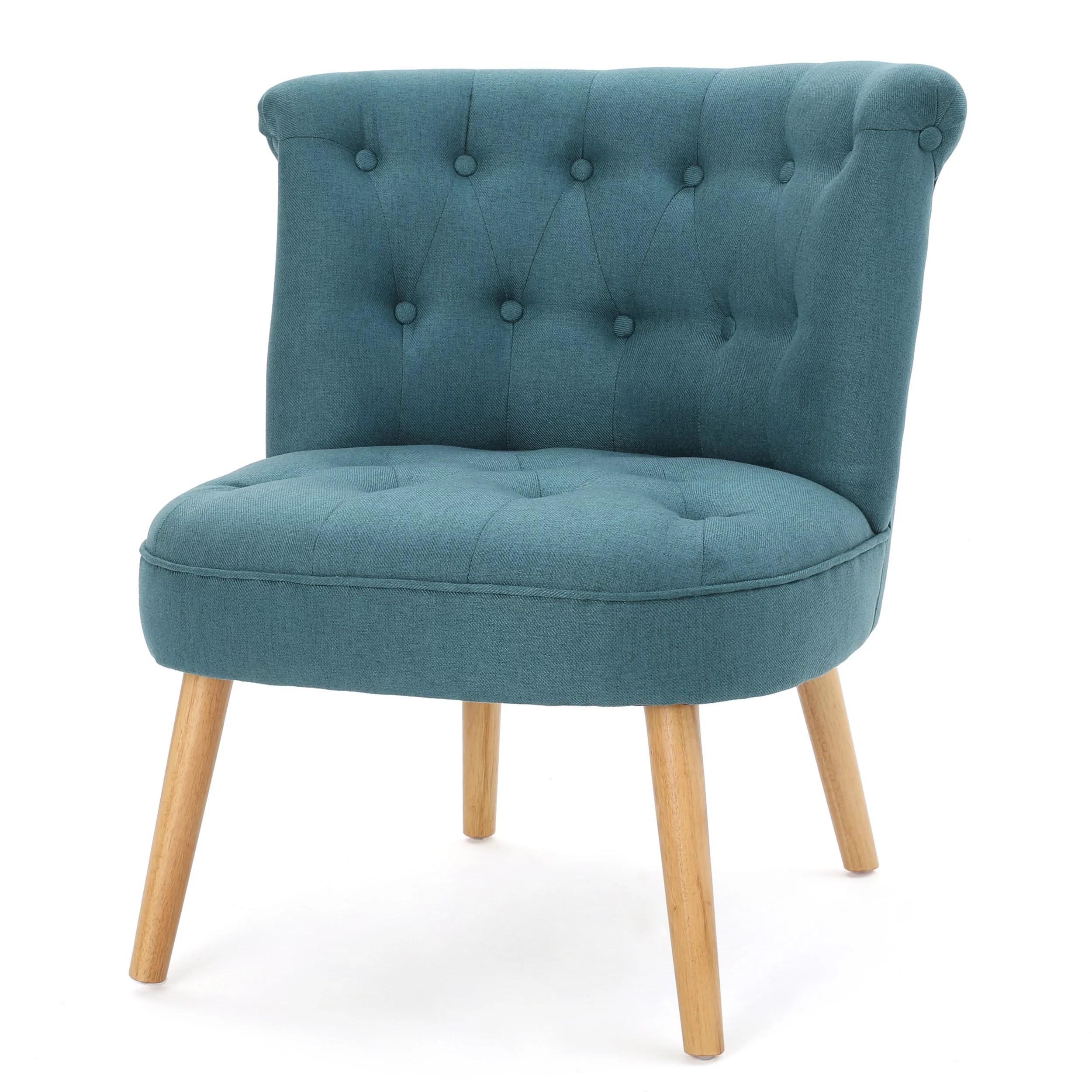Donna Fabric Tufted Chair Dark Teal  Walmartcom