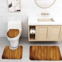GOHAO Brown Wooden Plank Texture Tree Timber Floor Vintage ...