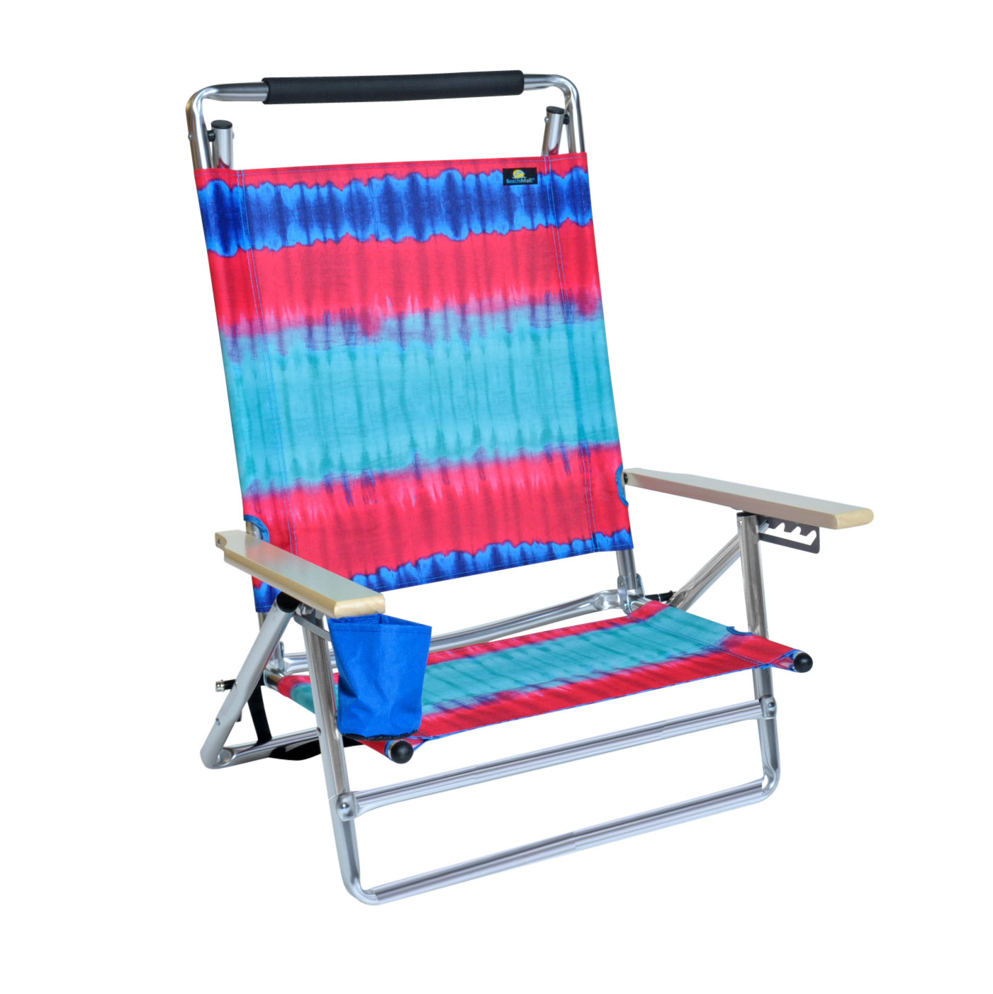 Where To Buy Beach Chairs Deluxe 5 Pos Lay Flat Aluminum Beach Chair W Cup Holder 250 Lb