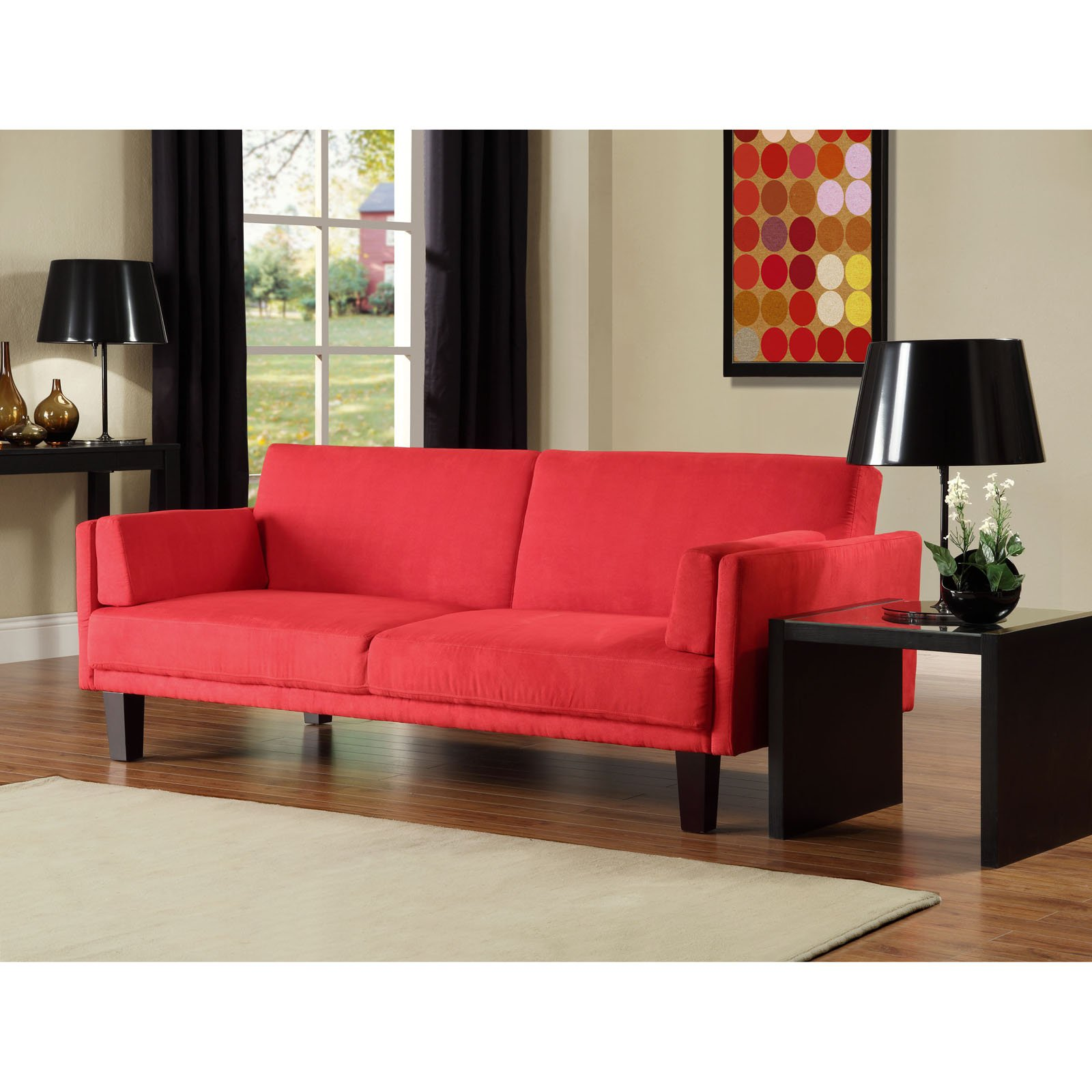 atherton home soho convertible futon sofa bed and lounger luxury for everyday use