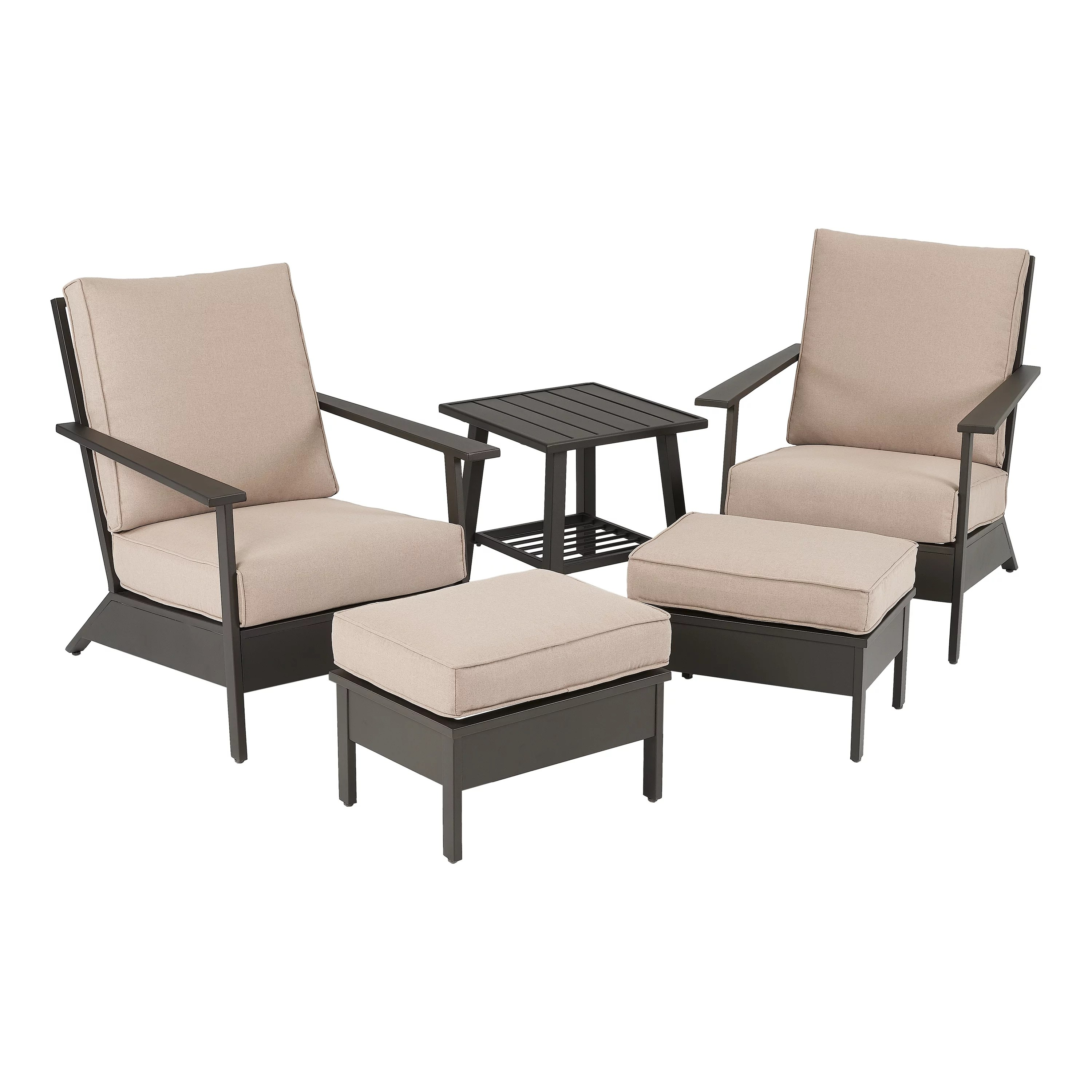 costway 3 pcs patio rattan furniture set coffee table 2 rattan chair w red cushions