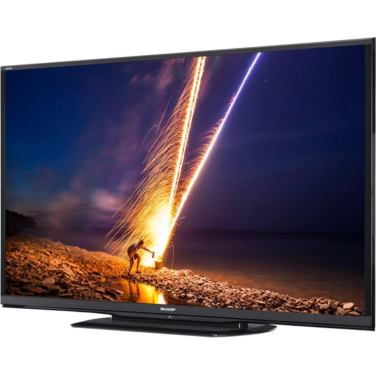 Sharp AQUOS LC-90LE657U 90-inch LED 3D Smart TV - 1920 x 1080 - (Refurbished) - Walmart.com