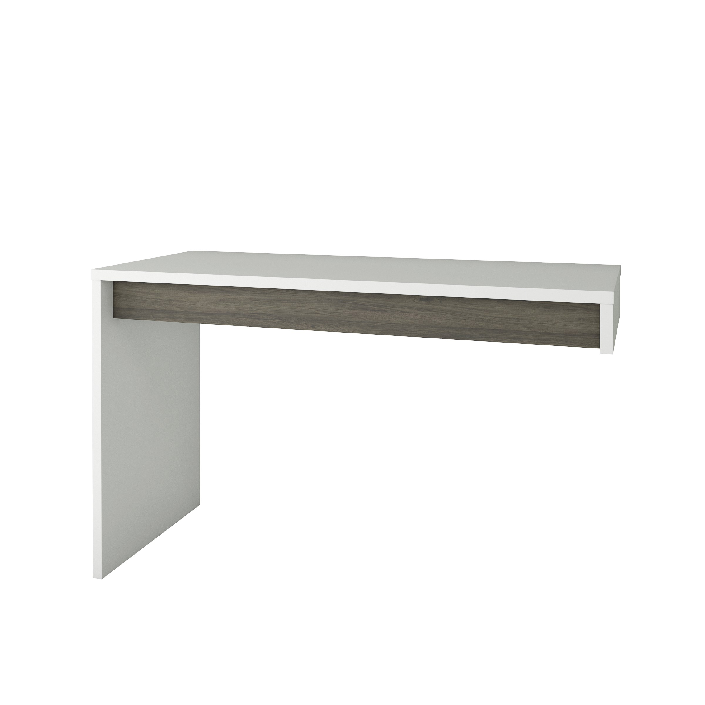 Nexera Chrono Reversible Desk Panel Bark Grey  White