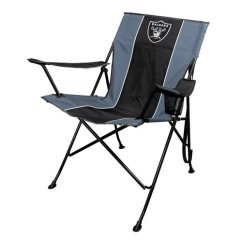 Oakland Raiders Chair Oxo Tot Sprout Replacement Shoulder Straps Nfl Tailgate By Rawlings Walmart Com