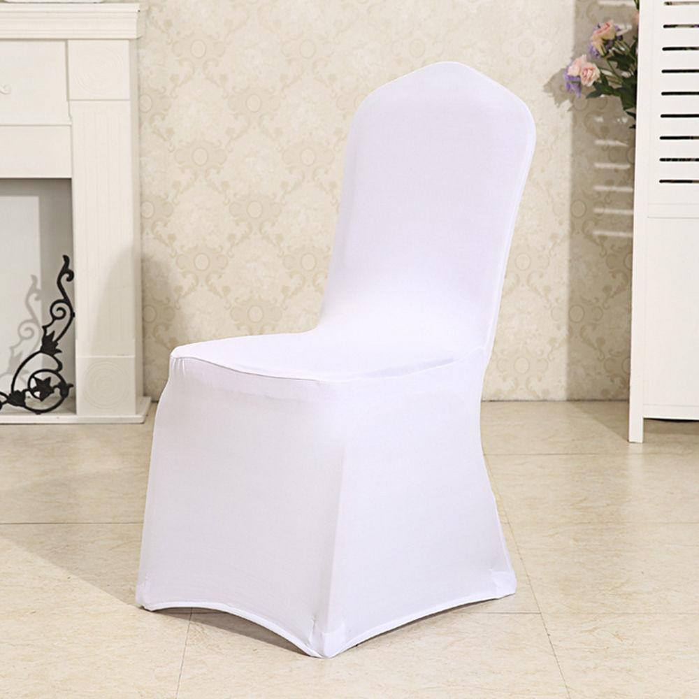 chair covers price best lift recliners lowest ever hifashion 100 pcs universal white spandex for party wedding walmart com