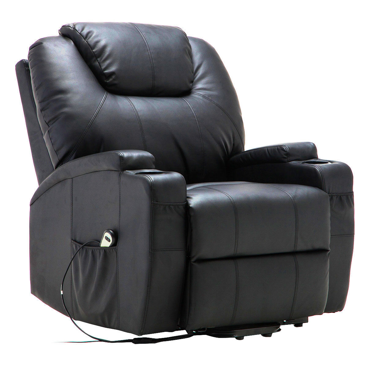 recliner massage chair 1930s rocking costway electric lift power heated sofa lounge w remote control walmart com