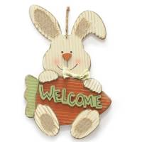 """Easter Wal-mart 17"""" Bunny Wall Decor, Bunny With Carrot ..."""