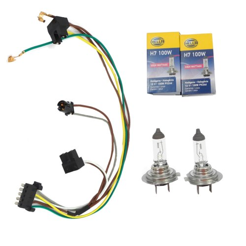 small resolution of cf advance for 02 05 mercedes benz c230 c320 left or right headlight wiring harness and h7 100w headlight bulb 2002 2003 2004 2005 walmart com