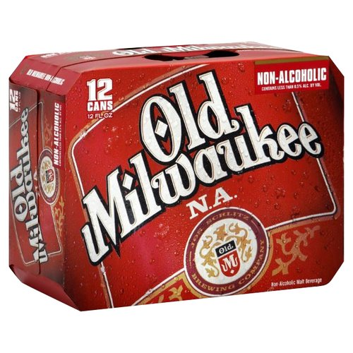 Old Milwaukee Non-Alcoholic Beer 12 pack 12 fl oz ...