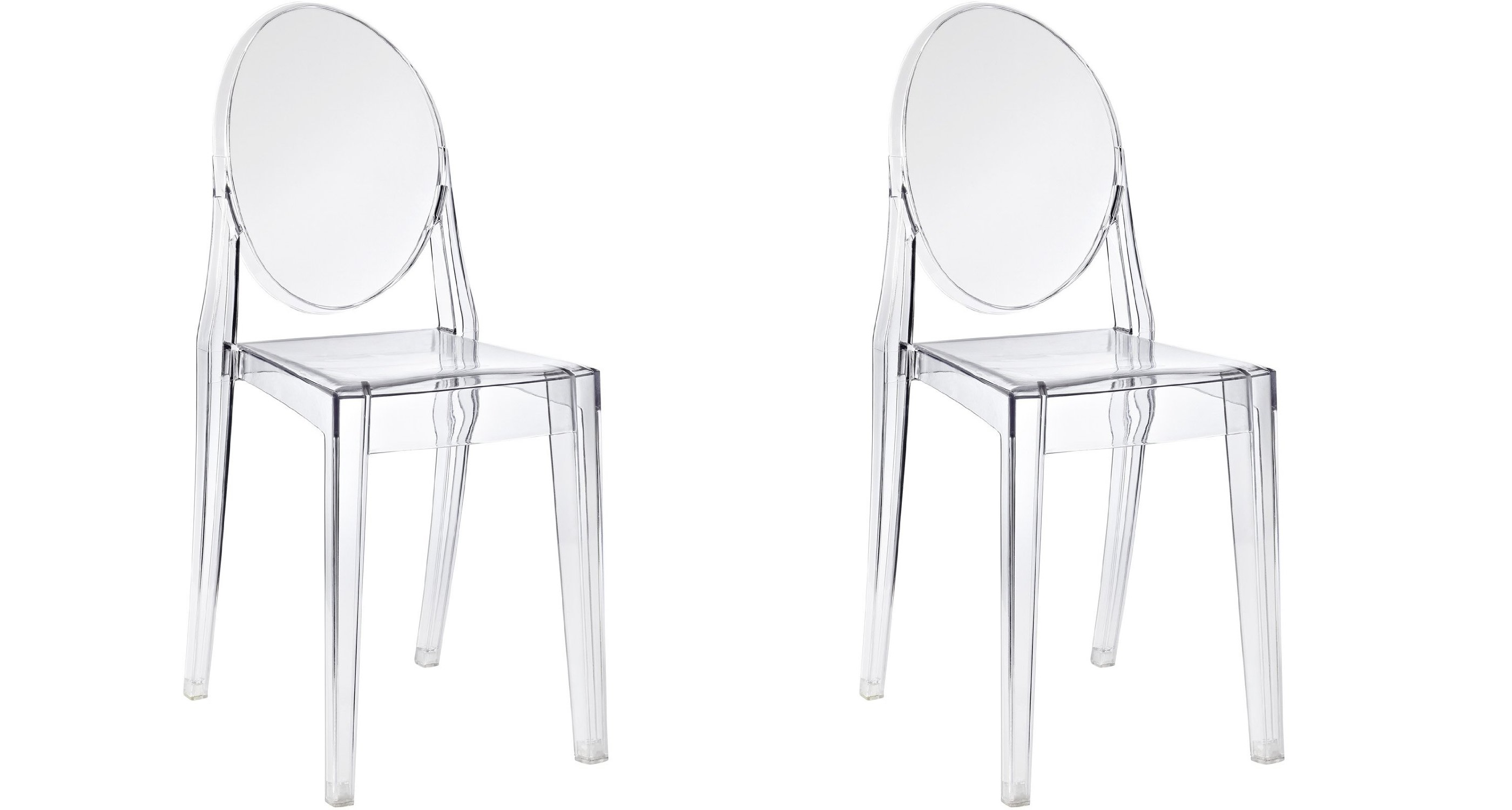 plastic see through chair walmart patio chairs btexpert modern accent transparent dining ghost armless clear set of two com