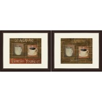 "Framed Graphic ""Coffee and Espresso"" Wall Art, Espresso ..."