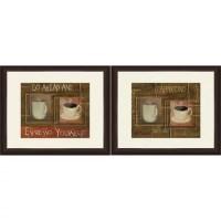 "Framed Graphic ""Coffee and Espresso"" Wall Art, Espresso ..."