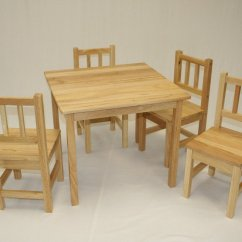 Unfinished Wooden Chairs For Toddlers Buy Adirondack Ehemco 5 Piece Kids Table And Set Solid Hard Wood Walmart Com
