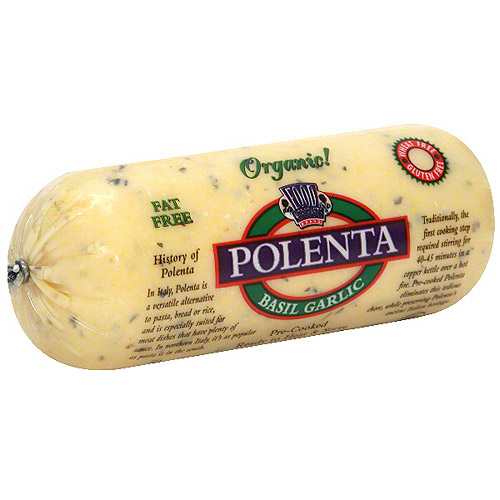 Food Merchants Brand Organic Basil Garlic Polenta 18 oz ...