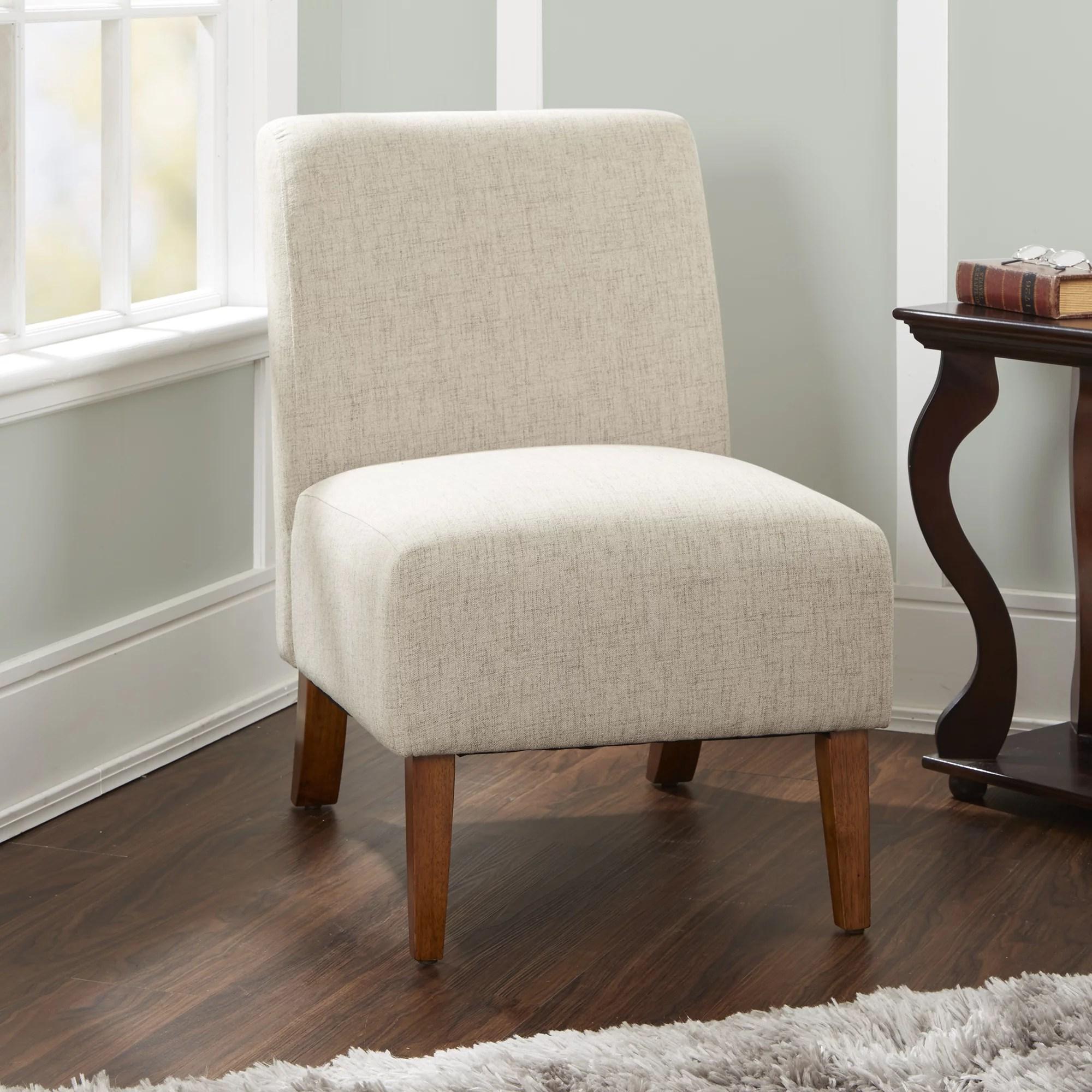 upholstered slipper chair black oversized silverwood addison in tan walmart com