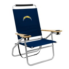 Reclining Beach Chairs Chair Cover Hire Inverness San Diego Chargers Nfl Walmart Com