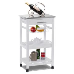 Kitchen Rolling Cart Zinc Table Islands Carts Walmart Com Product Image Costway Trolley Steel Top Removable Tray W Storage Basket Drawers