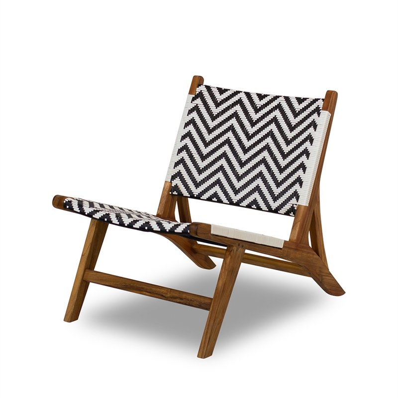 mid century modern bowen golden brown teak outdoor indoor lounge chair