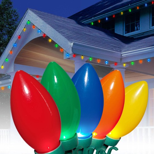 small resolution of holiday time ultra bright led c9 christmas lights ceramic multi 25 count walmart com