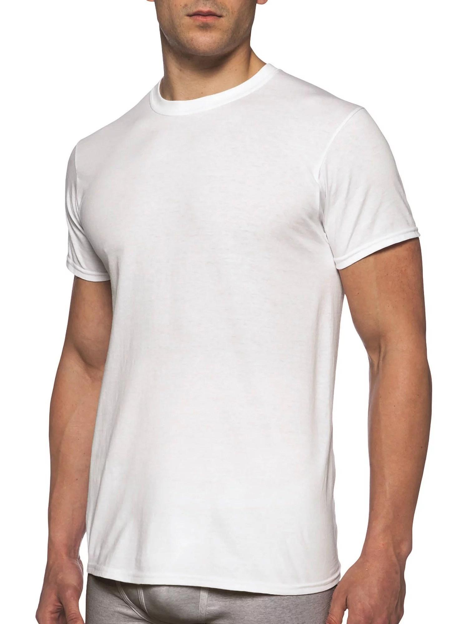 Gildan Mens Short Sleeve Crew White TShirt 6Pack