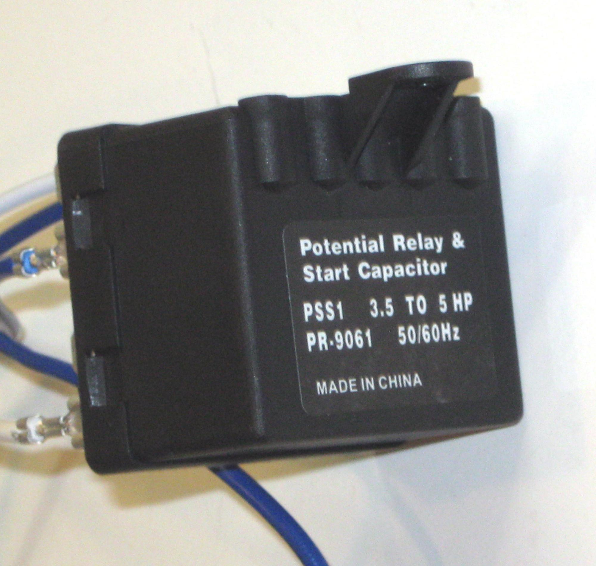 hight resolution of hvac air conditioning super torque kick start potential relay capacitor pss1 walmart com