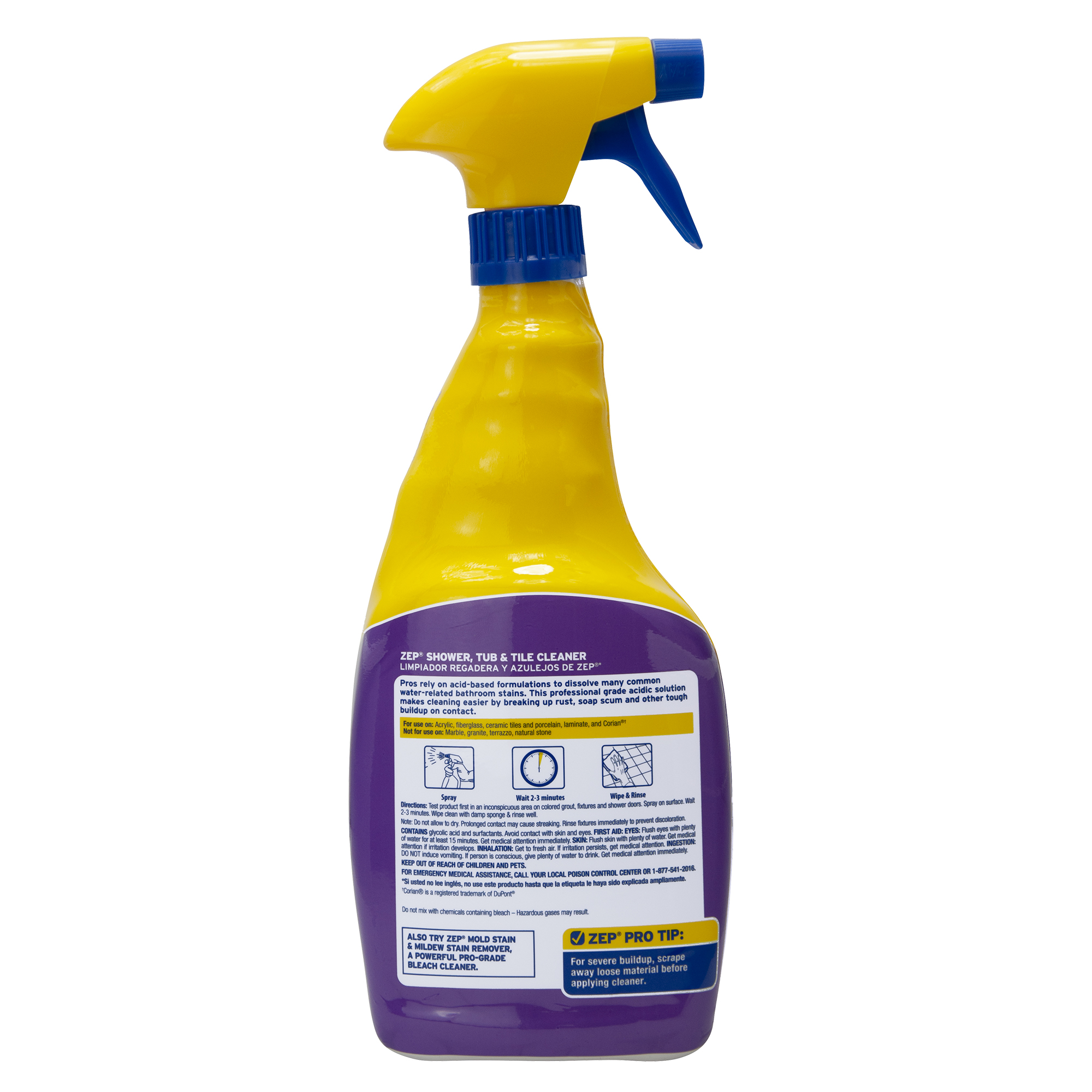 zep shower tub and tile cleaner 32 ounces