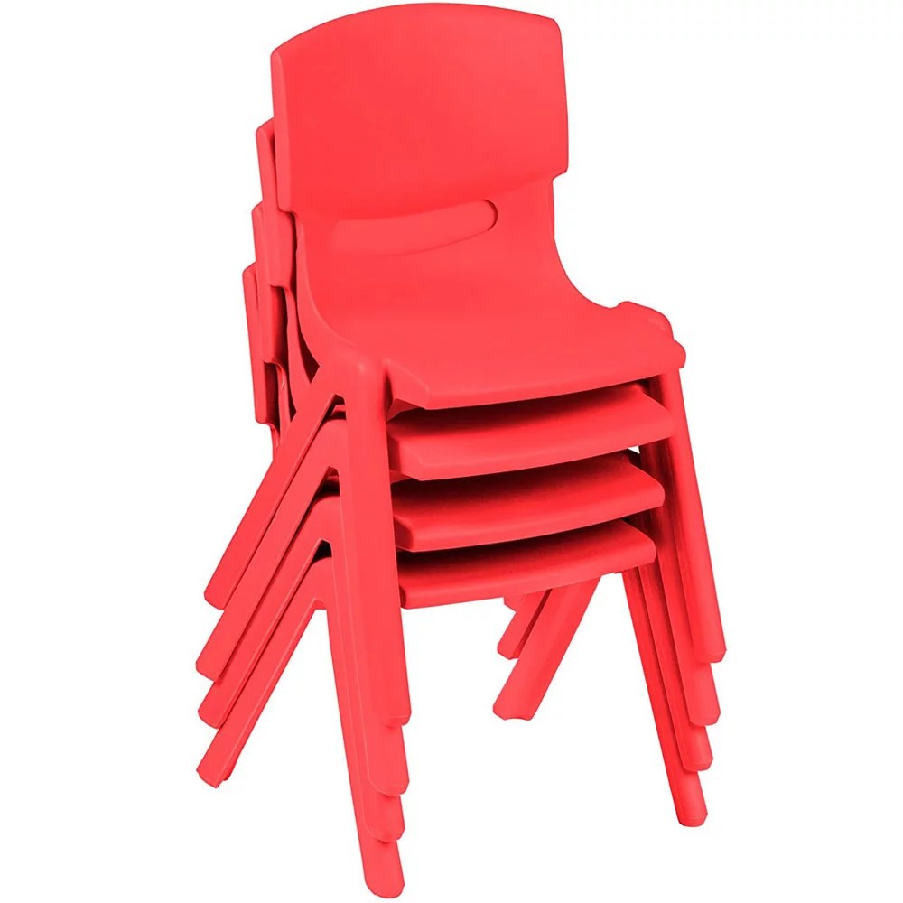 toddler plastic chairs rei camp xtra chair ktaxon set of 4 kids stackable children preschool stack pack walmart com