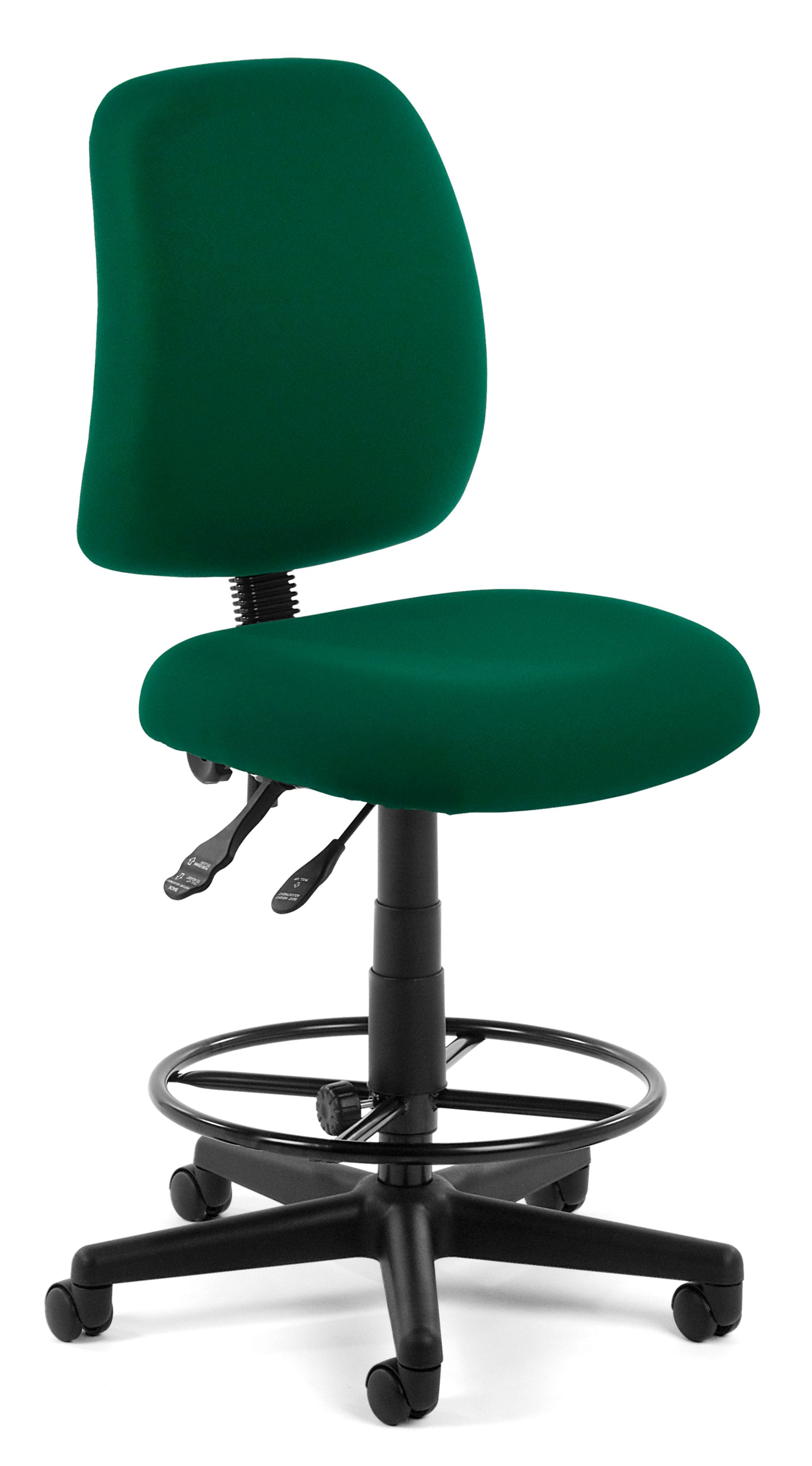 ofm posture task chair blue and a half series model 118 2 dk armless swivel