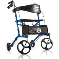 Hugo Sidekick Side-Folding Rollator Walker With Seat ...