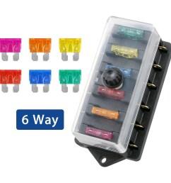 6 way fuse holder box car vehicle circuit blade fuse box block w free fuse walmart com [ 1600 x 1600 Pixel ]
