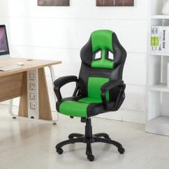 Desk Chair Made Flip Sleeper Belleze Racing Style Executive Swivel Office Computer Task High Back Gaming Pu Leather Seat Black Green Walmart Com