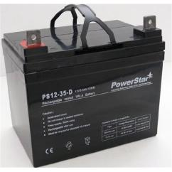 Wheel Chair Batteries Target Childrens Table And Chairs Powerstar Agm1235 121 Deep Cycle Invacare Pronto M41 12v 44 35ah Wheelchair Battery Walmart Com