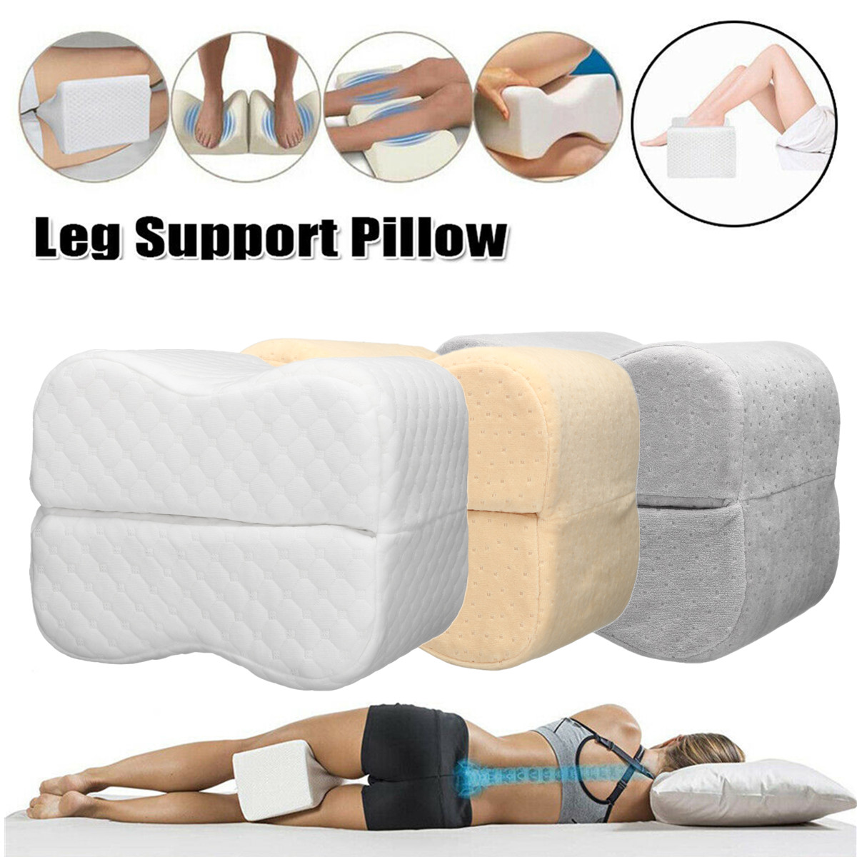 knee pillow for side sleepers memory foam leg pillows spacer cushion for back pain pregnancy support sciatica hip joint surgery pain relief