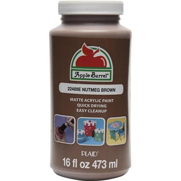 Apple Barrel Nutmeg Brown 16 Oz