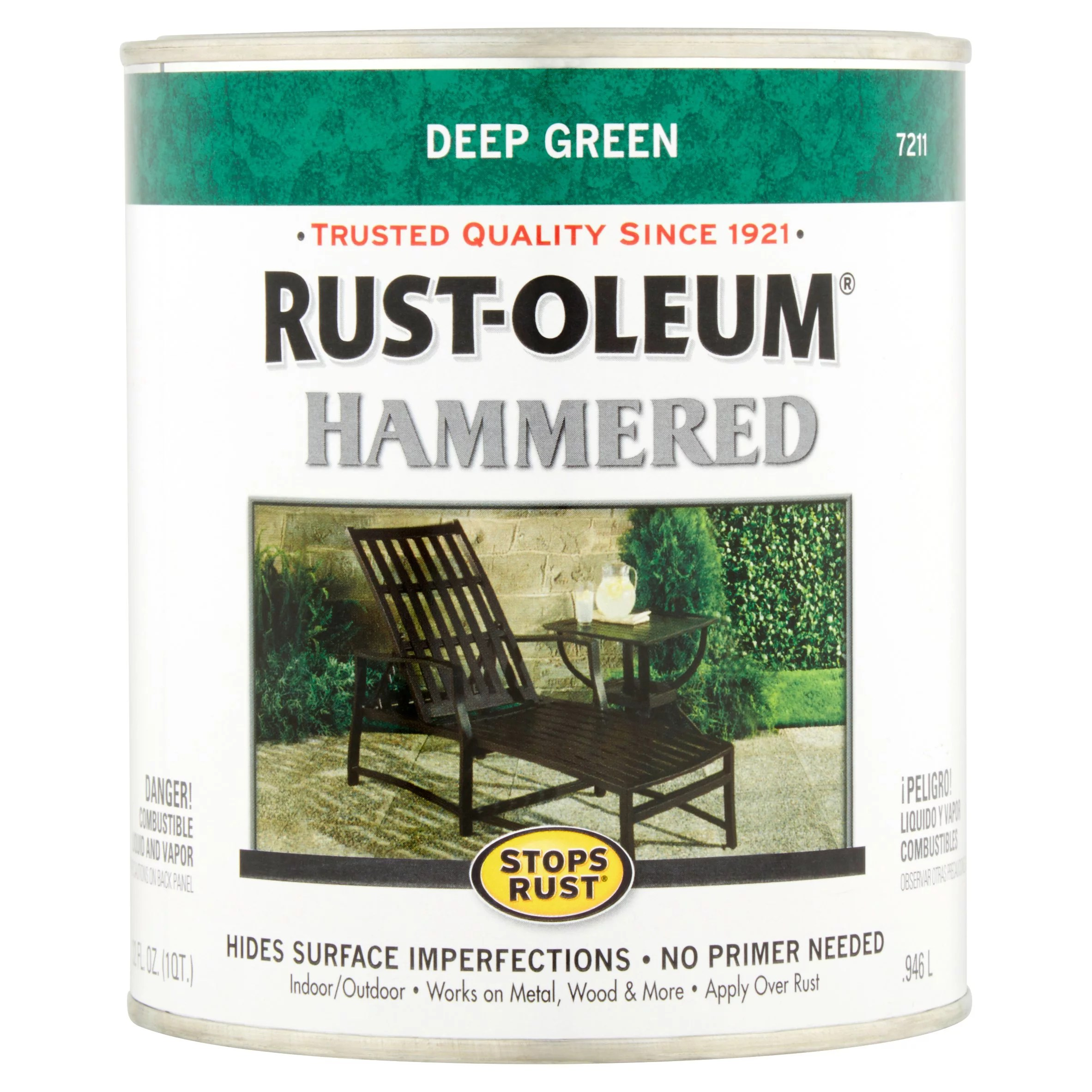 Rustoleum Verde Green Hammered Spray Paint