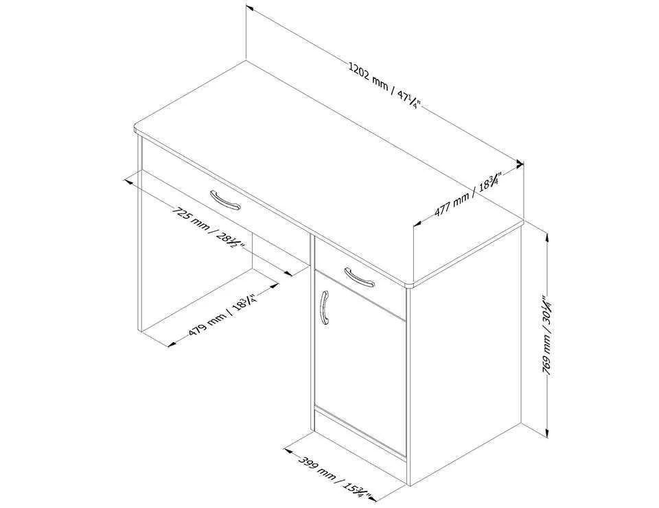 South Shore Smart Basics Small Work Desk, Multiple