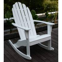 Adirondack Rocking Chair, White - Walmart.com