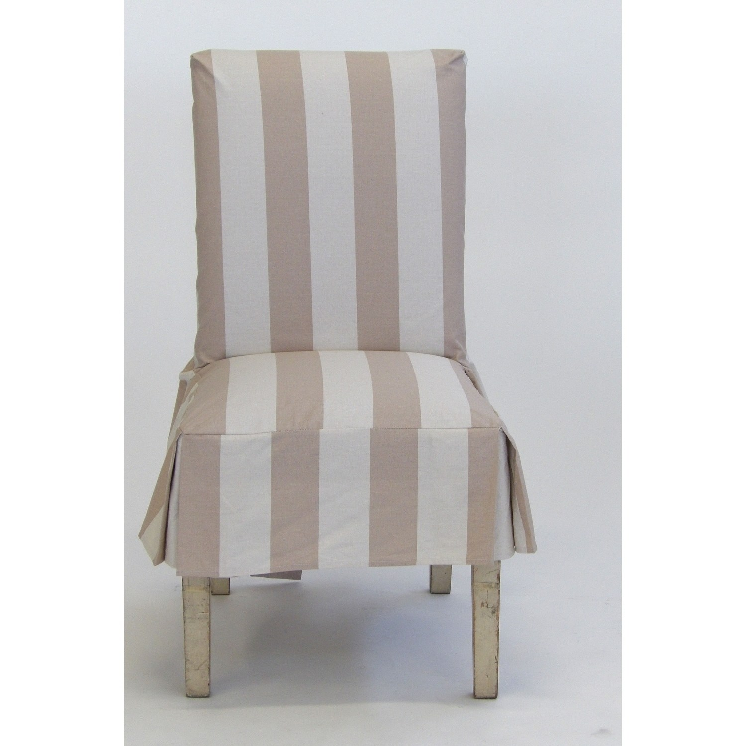 striped chair covers dining rooms pool side lounge chairs classic slipcovers cabana stripe short