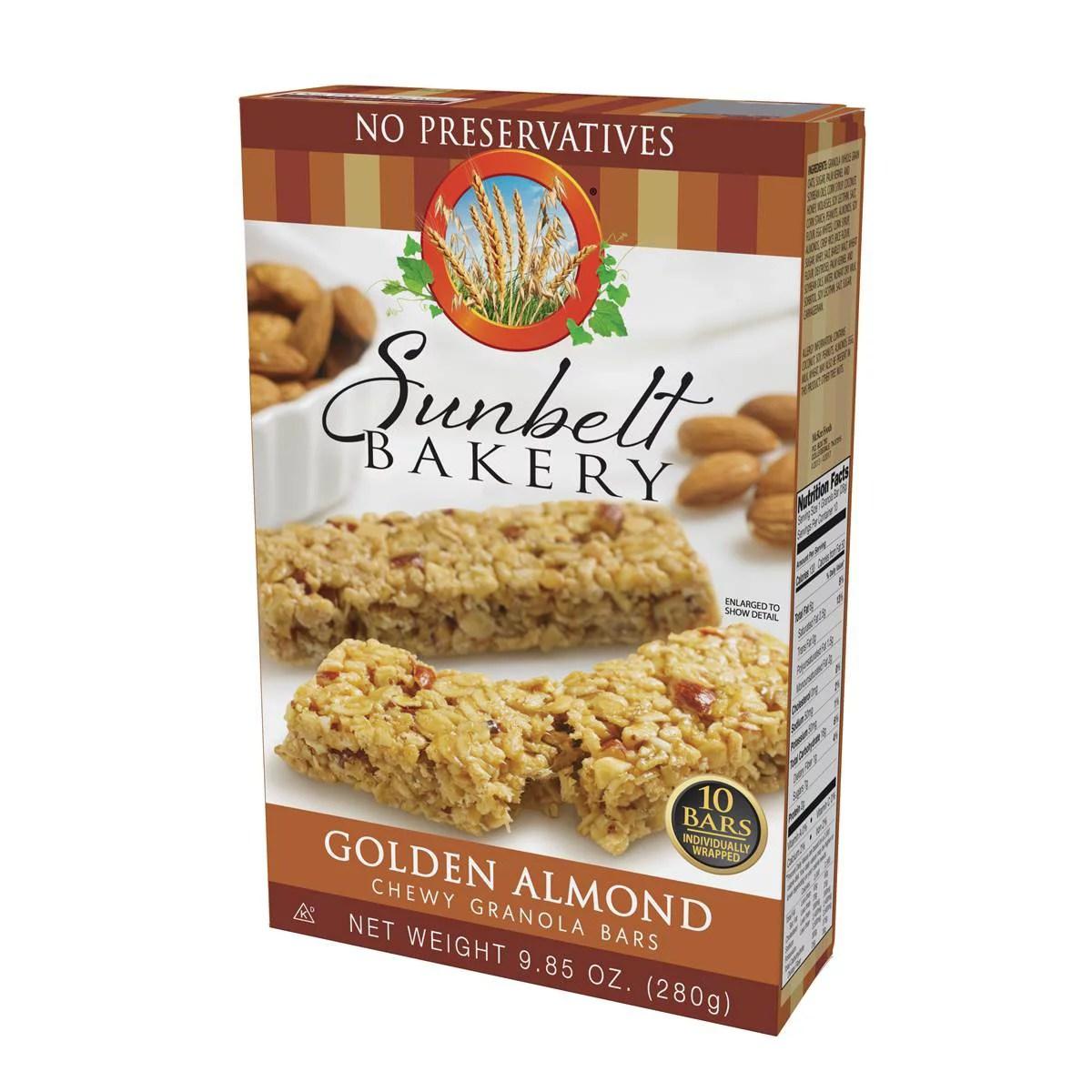 Sunbelt Bakery Golden Almond Chewy Granola Bars 985 oz