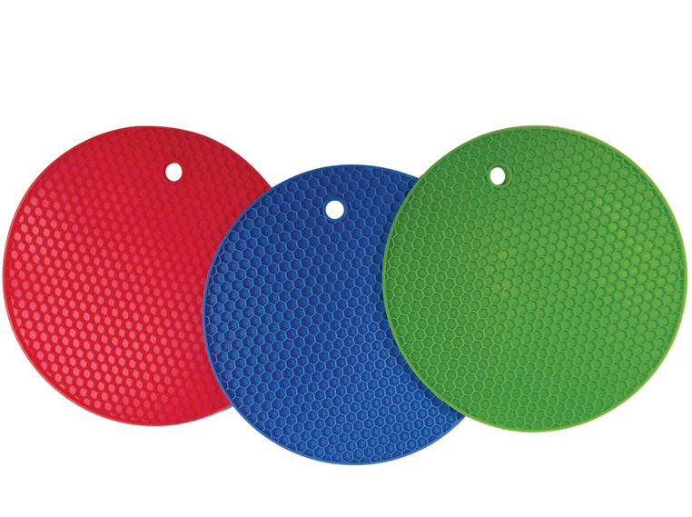 kitchen hot pads rustic pendant lighting for better products set of 3 large silicone pot holders trivets 7 inch blue lime green red walmart com