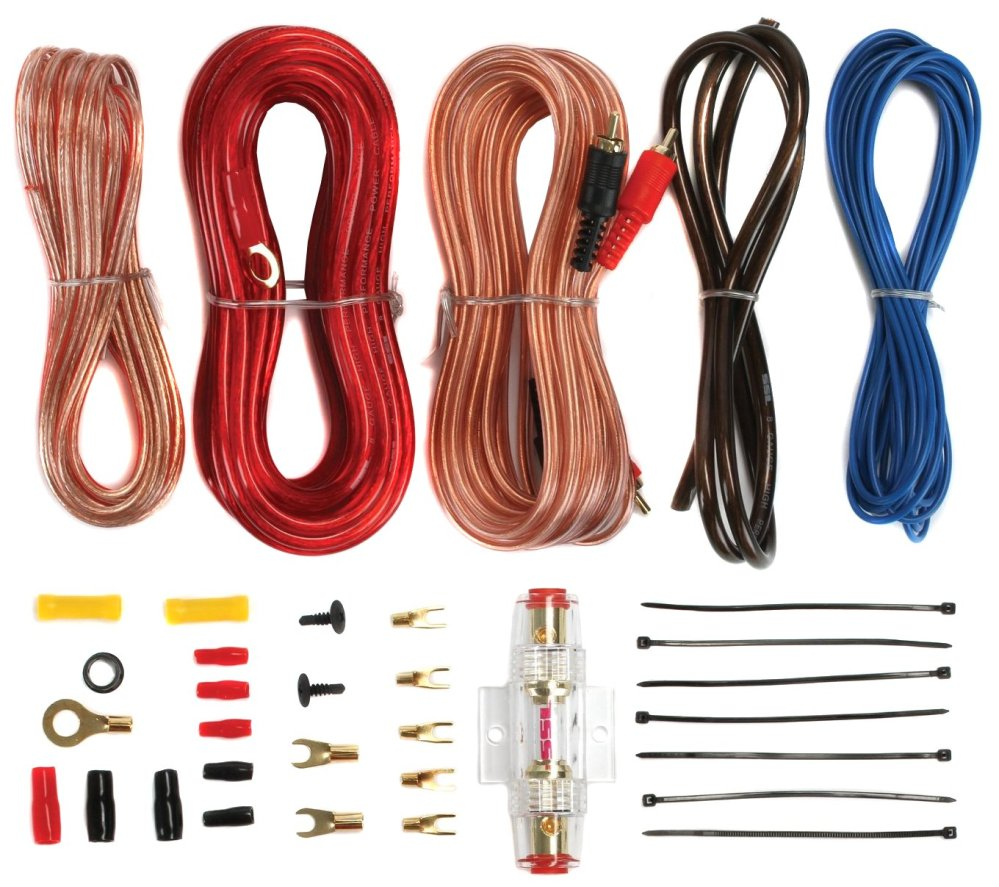 medium resolution of planet audio pcblk2 0 2 farad car digital capacitor cap led 8 ga amp kit walmart com