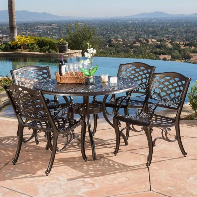 firenze 5 piece aluminum patio dining set - walmart