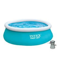 intex 6 x 20 easy set inflatable swimming pool with 330 ghp filter pump walmart com [ 1200 x 1200 Pixel ]