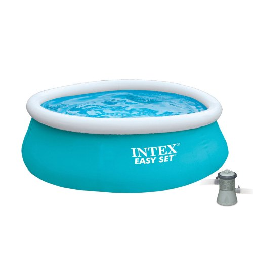 small resolution of intex 6 x 20 easy set inflatable swimming pool with 330 ghp filter pump walmart com
