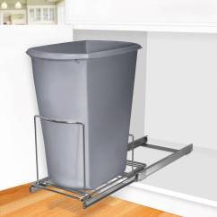 Undercounter Kitchen Trash Can Under Cabinet Lighting Lynk Professional Roll Out Sink Organizer