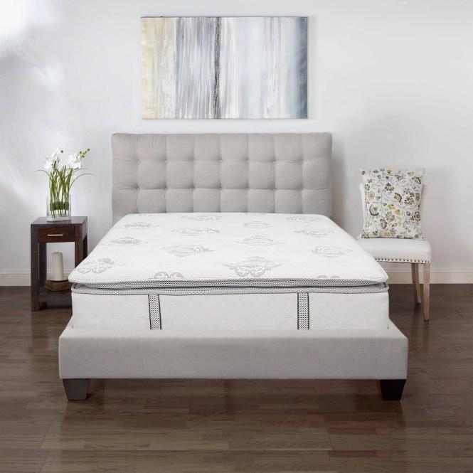 Modern Sleep Cool Gel Ultimate 14 Ventilated Memory Foam Mattress With Bonus Pillow