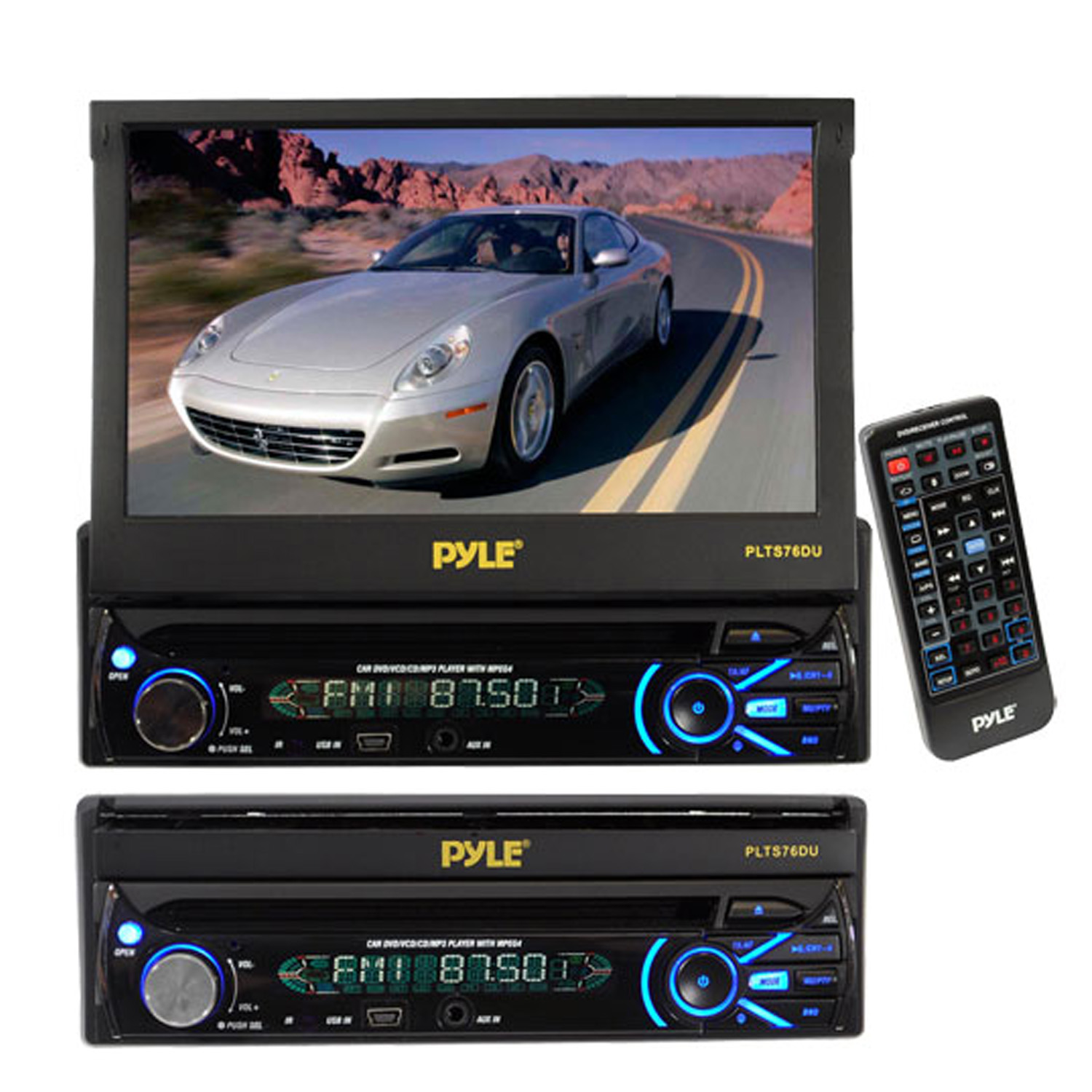 hight resolution of pyle plts76du 7 touch screen motorized detachable tft lcd pyle plbt72g wiring diagram pyle plts76du wiring diagram