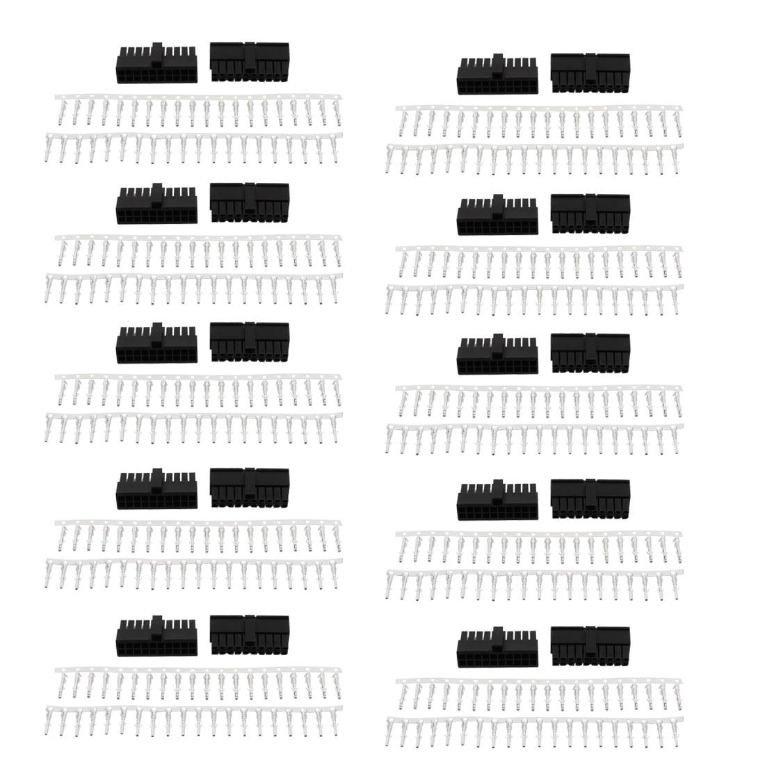 20 Sets 3 0mm 20 Pin Plastic Jst Sm Male Housing Crimp